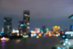 Абстрактный город Бангкока нерезкости в Таиланде Стоковая Фотография