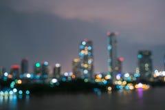 Абстрактный город Бангкока нерезкости в Таиланде Стоковые Фотографии RF