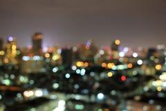 Абстрактный город ночи bokeh нерезкости Стоковая Фотография RF