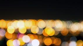 Абстрактный город ночи bokeh Стоковая Фотография RF