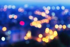 Абстрактный город ночи bokeh Стоковое фото RF