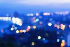 Абстрактный город ночи bokeh Стоковые Изображения RF