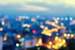 Абстрактный город ночи bokeh Стоковое Изображение RF