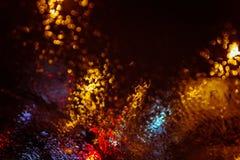 Абстрактный город освещает defocused предпосылку Стоковая Фотография