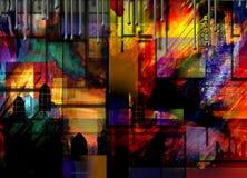 абстрактный город промышленный Стоковая Фотография RF