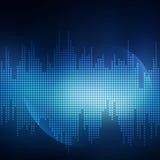 Абстрактный голубой вектор предпосылки Стоковая Фотография RF