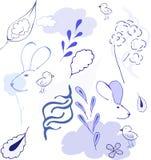 Абстрактный голубой вектор Стоковая Фотография
