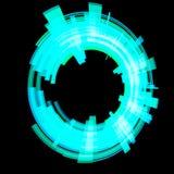 Абстрактный голубой круг растр Стоковая Фотография