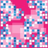 Абстрактный голубой пиксел Иллюстрация вектора