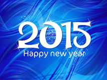 Абстрактный голубой текст Нового Года Стоковая Фотография RF