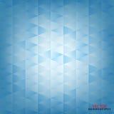 Абстрактный голубой треугольник, выровнянный квадрат, предпосылка Стоковое Изображение RF