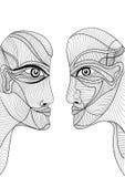 Абстрактный графический дизайн с человеком и женщиной Стоковое фото RF