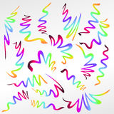 Абстрактный градиент покрасил ленты изолированный на белизне Стоковое Изображение