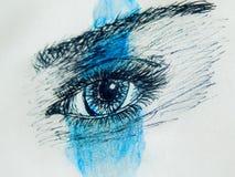 Абстрактный глаз конца-вверх Стоковая Фотография RF