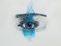 Абстрактный глаз конца-вверх Стоковое Изображение