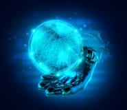 Абстрактный глобус руки Стоковые Фото