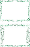 абстрактный декоративный флористический квадрат рамок Стоковое Изображение