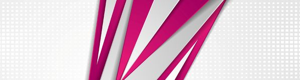 Абстрактный дизайн знамени фиолетового и серого техника геометрический Стоковые Изображения