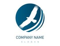 Абстрактный дизайн орла на белой предпосылке Стоковые Изображения