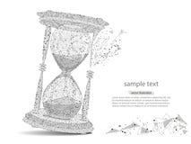 Абстрактный дизайн часов, в форме линий и пунктов иллюстрация штока