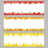 Абстрактный дизайн шаблона знамени установил - горизонтальную иллюстрацию вектора от вертикальных нашивок Стоковые Изображения RF