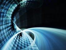 Абстрактный динамически голубой элемент рамки Стоковые Фотографии RF