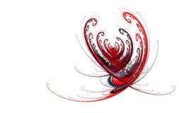 Абстрактный день валентинки сердца фрактали иллюстрация вектора