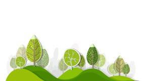 Абстрактный лес, комплект Стоковые Изображения