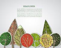 Абстрактный лес, комплект Стоковое Изображение RF