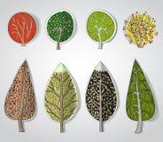 Абстрактный лес, комплект Стоковое Изображение