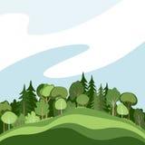 Абстрактный лес иллюстрация вектора