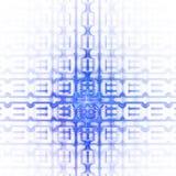 Абстрактный детальный геометрический орнамент на белой предпосылке Стоковое Изображение RF
