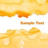 абстрактный желтый цвет акварели предпосылки Стоковые Фото