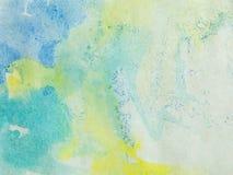 абстрактный желтый цвет бумаги краски голубого зеленого цвета Стоковая Фотография