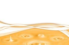 абстрактный желтый цвет воды предпосылки Стоковые Изображения