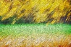 Абстрактный желтый цвет зеленого цвета краски выходит предпосылка Стоковые Фотографии RF