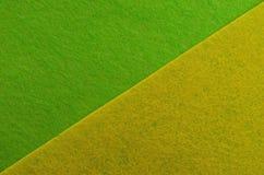 абстрактный желтый цвет зеленого цвета предпосылки Плоский минимализм положения геометрический Делает по образцу поздравительную  Стоковое Фото