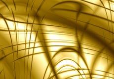 абстрактный желтый цвет золота конструкции Стоковая Фотография