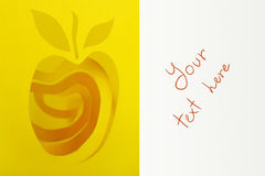 абстрактный желтый цвет кожуры выреза яблока Стоковые Фотографии RF