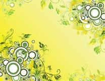 абстрактный желтый цвет предпосылки Стоковая Фотография RF