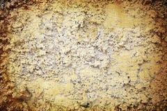абстрактный желтый цвет стены grunge предпосылки Стоковое Изображение RF