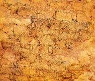 абстрактный желтый цвет grunge предпосылки Стоковые Фотографии RF