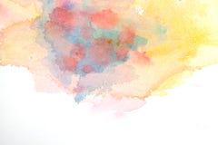 абстрактный желтый цвет акварели предпосылки Стоковое Изображение RF