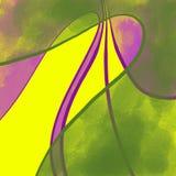 абстрактный желтый цвет зеленого цвета предпосылки Стоковая Фотография