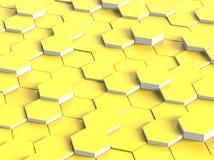 Абстрактный желтый цвет цифров шестиугольника Стоковая Фотография RF