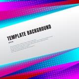 Абстрактный заголовок шаблона и сноски красочные, призма или треугольники яркого цвета градиента геометрические конструируют с по бесплатная иллюстрация