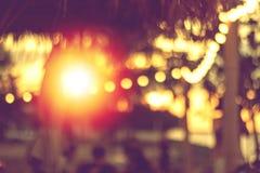 Абстрактный запачканный свет в летнем отпуске силуэта стоковая фотография
