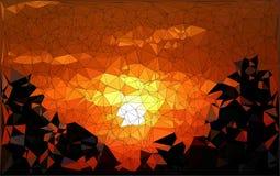 Абстрактный заход солнца геометрического дизайна иллюстрация вектора
