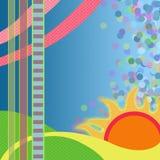 Абстрактный заход солнца Стоковые Изображения
