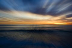 абстрактный заход солнца Стоковые Изображения RF